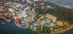 Resorts World Sentosa Master Plan - Michael Graves Architecture & Design Architecture Awards, Architecture Design, Dp Architects, Michael Graves, Tropical Architecture, Maritime Museum, Tropical Landscaping, Master Plan, Singapore