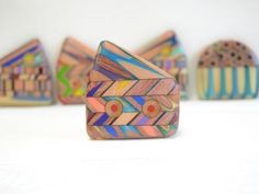Tiny crooked house pencil jewelry pencil brooch by JenMaestre for $45.00