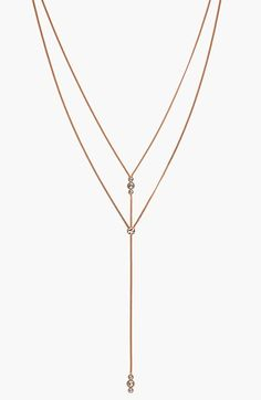 Vince+Camuto+Crystal+Accent+Layered+Y-Necklace+available+at+#Nordstrom
