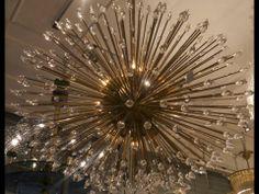 70's stunning brass sputnik chandelier Renaissance London City Road Shoreditch