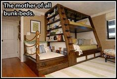 this would be great in a small room but make the bottom bunk a desk area with a lounge chair for reading.