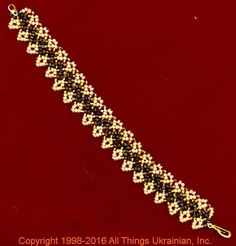 Gherdany Bead Jewelry # GBR1682  on AllThingsUkrainian.com
