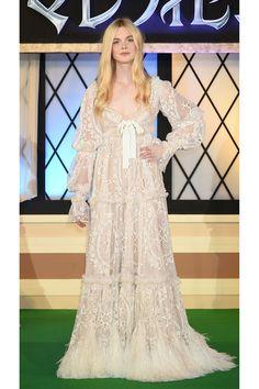 Dress Alexander McQueen A Royal Wardrobe: Elle Fanning's Sleeping Beauty Style