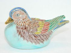 Decorative Collectible Bird Vintage Painted Figurine Ceramic Animal Pottery item