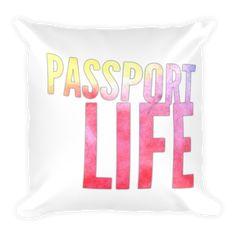64b5608e503 Passport Life (multi-color) Pillow