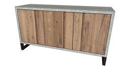 Large preview of 3D Model of KARE 80745 Sideboard Seattle 3 Doors (Sideboard Seattle 3 Türen)