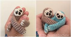 Look at these cutest creations of our mother nature. They are awesome and so pretty. We all know Sloths and all we love them. On youtube you can watch many adorable videos. You may have seen them in zoo. If you or your children love this animal you can crochet, because we have for you pattern for our little friends. Make your babies happy and make them loveliest toy with your hands. Thanks to Twisted Crocheter for free and clearly explained pattern. Weekend is coming and find some yarn and…
