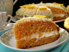 Морковный торт с апельсиновой помадкой