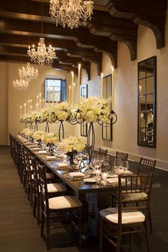 Love this Rehearsal Dinner setting - it would translate well into our Canyon Room at West.