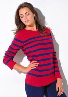 Pulóver s okrúhlym výstrihom, 100% akryl #ModinoSK #clothing #stripes #trendy #pruhy #pruzky #fashion #trend #styl #obleceni
