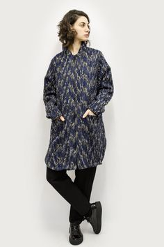 Coat Tetsu in Distortion Pattern Colors