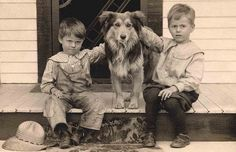 +~+~ Vintage Photograph ~+~+    The cuteness of these farm boys and their dog is beyond words!