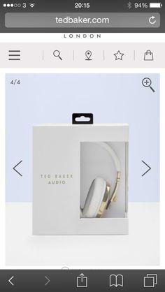 Ted Baker headphone packaging. simple yet elegant