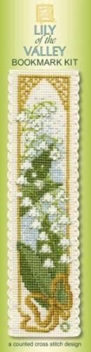 Lily of the Valley cross stitch bookmark