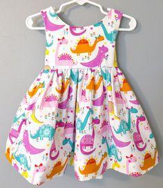 58cd3a0b70e77 Dinosaur dress for girl, baby dinosaur dress, pink dinosaur dress, dinosaur  dress, dinosaur birthday dress, dino dress, first birthday dress