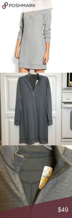 "Tommy Bahama Reversible Polo Dress Sz M NWT Tommy Bahama Reversible Long Sleeve Polo Style Dress Gunmetal Grey & Heathered Grey Nice Soft Knit Size Medium 8/10 Measures 19.5"" Across Chest Laying Flat, 38"" Shoulder to bottom New With Tags Tommy Bahama Dresses Midi"