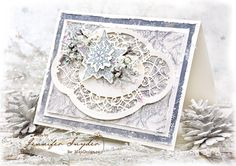 Jennifer Snyder has created this gorgeous Christmas card, with papers from Joyous Winterdays - MajaDesign's latest collection. <3  #card #cardmaking #cardinspiration #papercraft #papercrafting #papercrafts #scrapbooking #majadesign #majadesignpaper #majapapers #inspiration #vintage