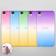 For HTC One M7 M8 M9 M10 A9 HTC Desire EYE 628 825 626 826 530 830 828 Case NEW Ultra Thin Gradient Colors Clear TPU Phone Cover