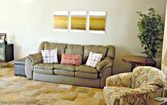 Life a Little Brighter: DIY living room painting