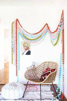 party garland DIY   designlovefest
