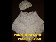Poncho Infantil em Crochê Passo a Passo - Parte 1/2 - YouTube Bonnet Crochet, Crochet Hats, Crochet Baby Clothes, Blazer, Knitting, Youtube, Fashion, Kids Punch, Crochet Crop Top