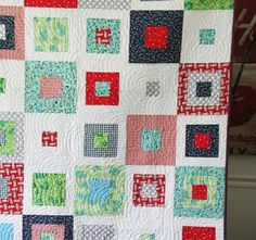 This one turned out so so great. The quilting was done by a local quilter and she did such a good job doing all of that free hand! It gives this simple pattern so much personality.&nbsp…