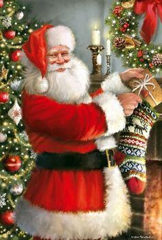 Beautiful Christmas Scenes, Elegant Christmas Trees, Christmas Art, Christmas Wishes, Father Christmas, Merry Christmas Pictures, Vintage Christmas Images, New York Weihnachten, Santa Claus Photos