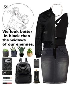 """Lady"" by claralodesky ❤ liked on Polyvore featuring Dr. Martens, Lucas Hugh, NARS Cosmetics, Mead, OtterBox, Lord & Berry, Shop Succulents, Dot & Bo, Agave and Eva Solo"