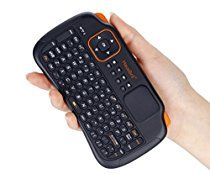 Hausbell Mini H7 2.4GHz Wireless Entertainment Keyboard with Touchpad for PC, Pad, Andriod TV Box, Google TV Box, Xbox360, PS3 (Black)