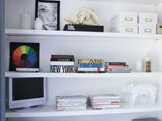 Maximize the space in your dorm by using shelves to store personal items. www.hgtv.com/specialty-rooms/8-stylish-dorm-room-updates/pictures/page-8.html?soc=pinterest