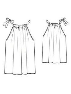 Mujeres y alfileres: Blusa de gasa sencilla
