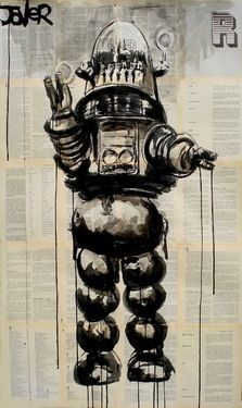"""'Lost In Space' robot: """"DANGER! Danger!"""" .... I really like this artist (Loui Jover). See his work at:  http://www.saatchionline.com/profile/284005"""