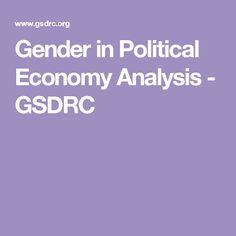 Gender in Political Economy Analysis - GSDRC