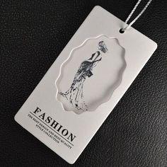 Grado A de ropa etiquetas de precio de papel Estucado Arte de impresión personalizada oscilación etiqueta de La Caída del nuevo diseño 45mm * 85mm