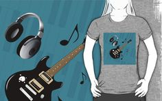 #BluePianoKeys #BlackElectricGuitar #GrayTshirt by #MoonDreamsMusic