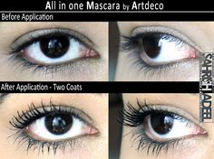 All in one Mascara in 'Black' by Artdeco - Review, Swatch and Before