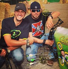 Jason Aldean and Luke Bryan YUMMY!!!!! did any one notice blake on the target lol