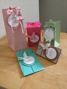 Alternate projects using the gift bag punch board
