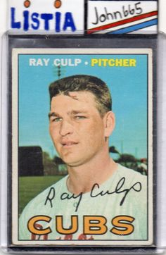 RAY CULP - 1967 TOPPS #168 - EX - CHICAGO CUBS - FREE S/H