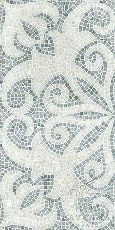 The Studio Line  Arabella shown in Bardiglio and Paperwhite tumbled.  New Ravenna Mosaics 2011