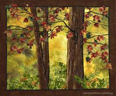 Simple landscape scenes can be elegant and moving, not just easy to create. Natalie Sewell, my landscape quilting mentor and buddy, and I find that a design doesn't have to be intricate or complicated to be stunning. Here's a quilting tutorial on how I created the scene, Wolf River Woods.