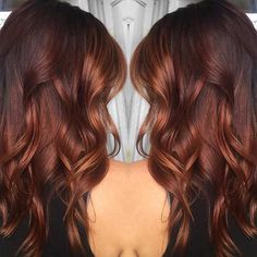Rich Copper Balayage Highlights for Brunettes
