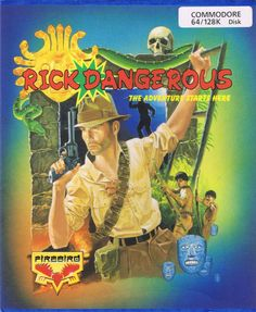 Rick Dangerous - Commodore 64 Front Cover