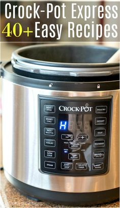 Here is a huge list of easy Crock Pot Express recipes for you to try in your new pressure cooker this week! From dinners to side dishes and desserts too you will surely find a favorite dish here. Simple and delicious meals your family will love to eat and make your life a lot easier in the kitchen. #crockpotexpress #recipes #chicken #beef #soup #healthy #dinner #recipe #easy #simple #pressurecooker #dessert