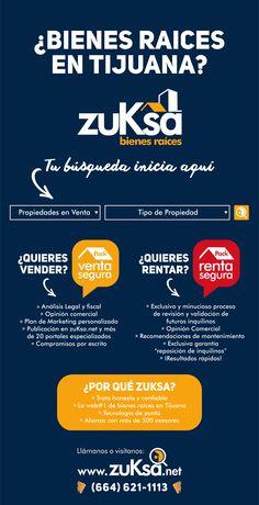 ¿Bienes raíces en Tijuana? Tu busqueda inicia aquí: www.zuKsa.net , trato honesto y confiable su desea Vender, Rentar o Comprar tu propiedad ¡no busques más!