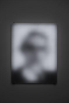 Jim Campbell: Portfolio: Low Resolution Works: Portrait Of A Portrait Of Claude Shannon