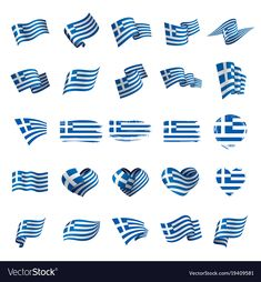 Greece flag vector image on VectorStock Free Vector Images, Vector Free, Greece Tattoo, Greece Flag, Funny Greek, Flag Vector, Creative Business, Diy And Crafts, Royalty