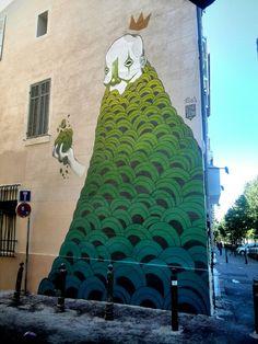 Russ - street art - Marseille 6 / cours julien, rue bedarrides (aout 2014)