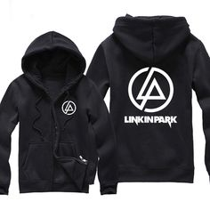 Aermica Linkin Park 2017 Women Zipper Hoodies Print Female Black Hoodie Hooded Sweatshirt Winter Clothes Hoody Streetwear