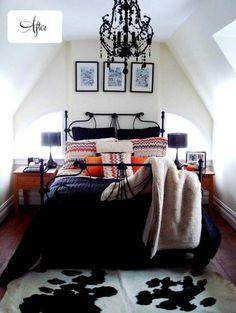 #bedroom #black #orange